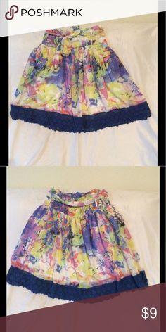 Floral & flirty Very pretty brand new skirt. Multicolored. Lucky & Coco Skirts Midi