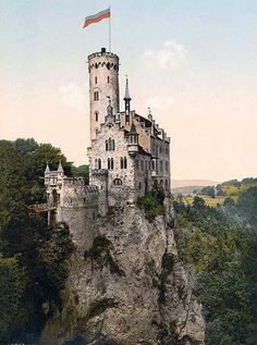 Lichtenstein Castle is a tourist attraction built in Gothic Revival style & located in the Württemberg area of Germany.