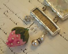 Necklace with Velvet Strawberry  by andrea singarella, via Flickr