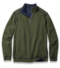 Tommy Bahama Mens Flip Side Pro Reversible Half-Zip Sweatshirt $98