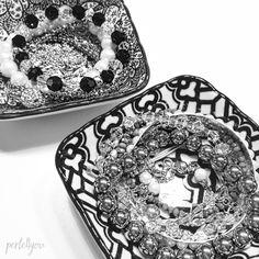 Schmuck Aufbewahrung- Perlenarmbänder