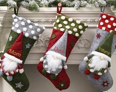 Embroidered Christmas Stockings, Quilted Christmas Stockings, Christmas Stocking Pattern, Christmas Knitting, Christmas Sale, White Christmas, Christmas Baking, Wedding Ring Quilt, Christmas Decorations