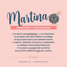 ¿Alguna Martina en la sala? #mrwonderfulshop #names #quotes Mr Wonderful, Names With Meaning, Baby Girl Names, Martini, Meant To Be, Humor, My Love, Instagram, Happy