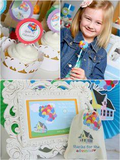 Up Movie Inspired Birthday Party #up #movie #UpMovie #cake #birthday #party #printables #desserts #kids #blog