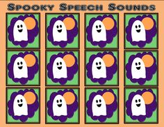 Free Download! Spooky Speech Sounds template to create any activity!