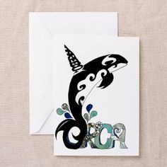 #Orca Freedom Greeting Cards (10 pack) by Lee Hiller