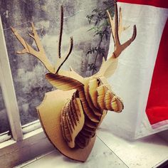 1000 images about faux taxidermy ideas on pinterest for Free cardboard taxidermy templates