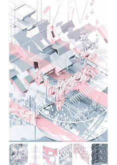 George Bradford-Smith Y4 — Smout Allen Bartlett School Of Architecture, Architecture Collage, Architecture Graphics, Architecture Visualization, Architecture Drawings, Architecture Portfolio, Architecture Design, Smout Allen, Architecture Presentation Board