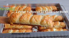 1 Paket Yufkadan 10 Kişilik Çıtır Börek Hot Dog Buns, Hot Dogs, Ham, French Toast, Food And Drink, Bread, Vegetables, Breakfast, Turkish Language