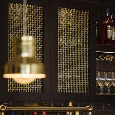 We offer exceptionally high-standard decorative grilles, mesh and perforated sheeting for ventilating cabinet doors Perforated Metal Panel, Metal Panels, Wire Mesh, Metal Mesh, Kitchen Cabinet Doors, Kitchen Cabinets, Wardrobe Doors, Hand Weaving, Wall Lights