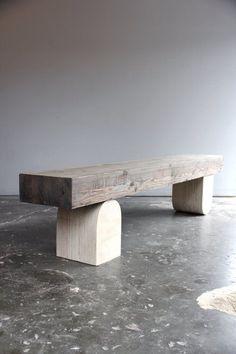 Bench by Ariele Alasko Bench Furniture, Design Furniture, Outdoor Furniture, Outdoor Decor, Inexpensive Furniture, Outdoor Lounge, Decoration Inspiration, Furniture Inspiration, Table Design