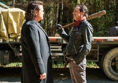 The Walking Dead Season 7 Episodic Photos - Eugene Porter (Josh McDermitt) and Negan (Jeffrey Dean Morgan) in Episode 16 Photo by Gene Page/AMC