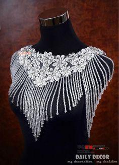 Best 2015 Luxurious Crystal Rhinestone Jewelry Bridal Wraps White Lace Wedding Shawl Jacket Bolero Jacket Wedding Dress With Beaded Under $79.59 | Dhgate.Com