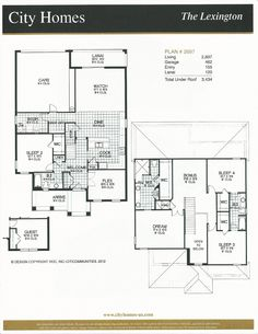 Windermere Terrace City Homes Lexington Floor Plan in Windermere FL