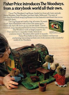 Fisher-Prices Introduces The Woodseys. #vintage #1970s #1980s #toys #nostalgia