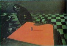 1976年作「ダイス」鴨居玲 Sleep Paralysis, Vincent Van Gogh, Dyes, Traditional Art, Love Art, The Magicians, Painting & Drawing, Surrealism, Art Photography