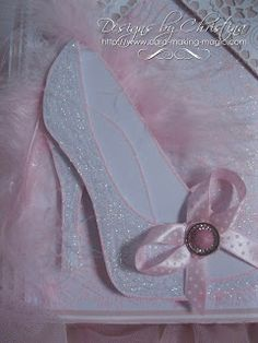 Flowers, Ribbons and Pearls: Glittery Shoe