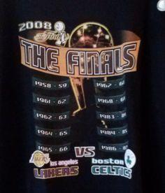 LA Lakers vs Celtics - Size: XL T-Shirt Black 2008 The FINALS  #2008TheFINALS #LosAngelesLakers
