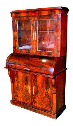 Victorian Mahogany Secretary Desk on Chairish.com