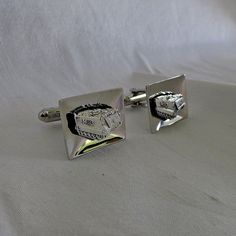 Military M113 Tank Cuff Links Silver Tone by SilverFoxAntiques, $30.00