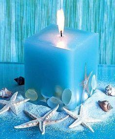** Make A Beach Style Shell Candle @brillianteinteriors