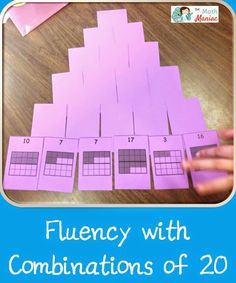 The Elementary Math Maniac: Another way to practice combinations of 5, 10 and 20
