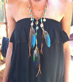 Pedido personalizado Diosa amazónica collar xl de cuero por Amanur