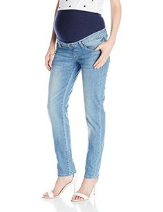 3566b94e73199 Ripe Maternity Womens Lite Slim Leg Denim Pale Medium -- You can get  additional details
