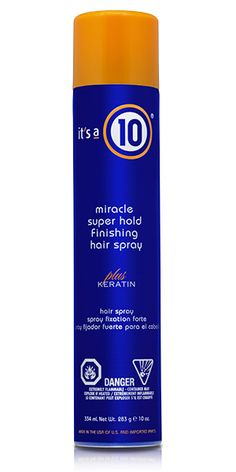 MIRACLE SUPER HOLD FINISHING SPRAY PLUS KERATIN - Its A 10