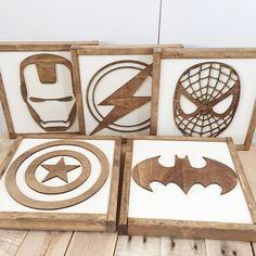 Superhero Sign- Superhero Wall Art- Boys Bedroom Decor- Neutral Nursery Decor- Superhero Nursery- Superhero Birthday- Kids Bedroom Decor by TheHandmadeSignCo on Etsy