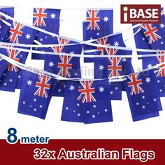 32 x Australian flags. Australian Flags. Size of flag 32 flags. Woven Polyester. What will get This product comes with a 12 months warranty, which covers all parts and labour except for the vinyl cover.   eBay!