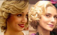 Aprenda a fazer o penteado das personagens de Leticia Spiller, Mariana Ximenes e Paula Burlamaqui, da novela 'Joia Rara'.