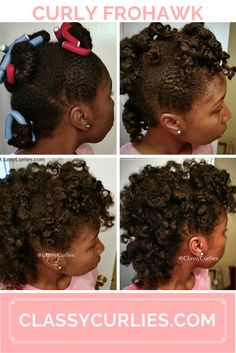 Curly mohawk on natural hair - ClassyCurlies