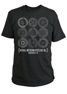 Image of Real Recognize Real - Black Shirt