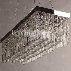 60W Lámparas Colgantes ,  Moderno / Contemporáneo Cromo Característica for Cristal MetalSala de estar / Dormitorio / Comedor / Habitación 2017 - $162001