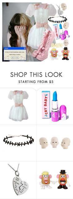 """""""Oh Mrs. Potato Head... (Melanie Martinez)"""" by kaykay-mara ❤ liked on Polyvore featuring Lime Crime and Hot Topic"""