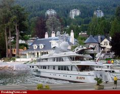 Oprah Winfrey's House  (and don't miss that small boat sitting there named HARPO!)