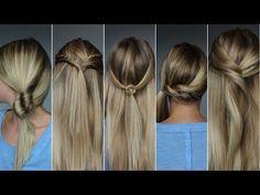 ✄ 5 coiffures rapides : du lundi au vendredi #3 - YouTube