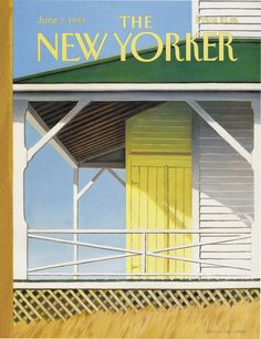 "The New Yorker - Monday, June 7, 1993 - Issue # 3563 - Vol. 69 - N° 16 - Cover ""Block Island Weekend"" by Gretchen Dow Simpson"