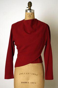Blouse Valentina (American, born Russia, 1899–1989) Date: 1940s Culture: American Medium: wool