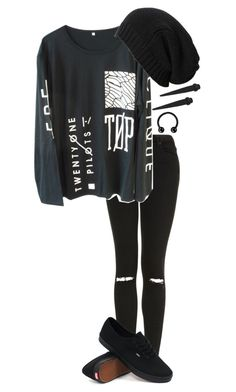 """""""rtd if you want"""" by bands-are-my-savior ❤ liked on Polyvore featuring Topshop, Vans, AllSaints, women's clothing, women, female, woman, misses and juniors"""