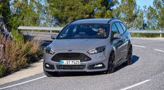 'Stealth' grey is a new paint option, and big wheels and centre exhausts apart, turns the Ford Focus ST wagon into something of a sleeper