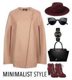 """Minimalist Style : Oxblood"" by inanee on Polyvore featuring Nine West, Ted Baker, Whistles, Movado, MICHAEL Michael Kors, Winter, nude, Minimalist and oxblood"