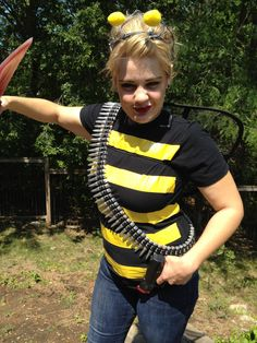 Killer Bee. Quick and witty last-minute costume