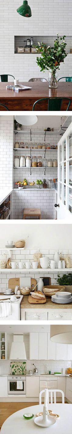 サブウェイタイルを使ったシンプルで清潔感のあるキッチン|海外おしゃれ部屋とインテリア【ルームスタイル】