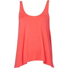 Witchery Cropped Swing Tank ($22) ❤ liked on Polyvore featuring tops, shirts, tank tops, blusas, tanks, watermelon, red crop top, shirts & tops, red shirt and red crop shirt
