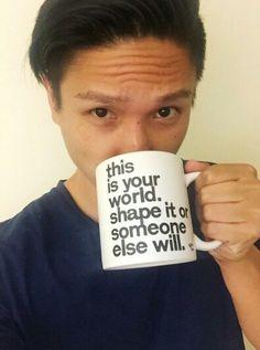 Arnold & his cool mug.