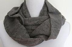 Gray Lace Stretch Knit Infinity Scarf Trim n' Thread https://www.amazon.com/dp/B076HZPBPS/ref=cm_sw_r_pi_awdb_x_ig.8zb0XA17ZS