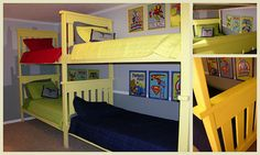I love these bunk walls.