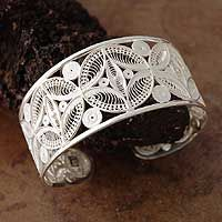Silver filigree cuff bracelet, 'Medallions' from @NOVICA, They help #artisans succeed worldwide.